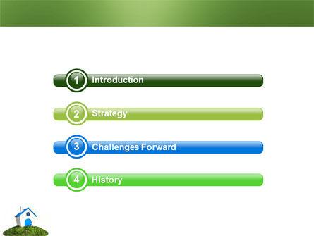 Model of House PowerPoint Template, Slide 3, 03648, Construction — PoweredTemplate.com