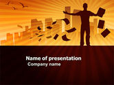 Business: Feeling PowerPoint Template #03649