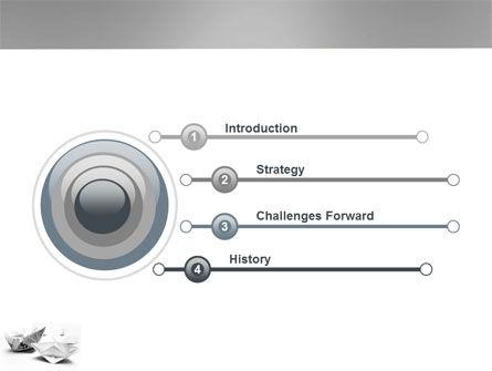 Paper Ship PowerPoint Template, Slide 3, 03650, Business Concepts — PoweredTemplate.com
