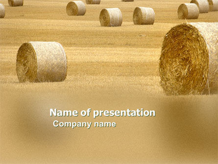 Agriculture: Harvest Time PowerPoint Template #03654