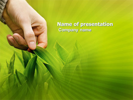 Agriculture: Plant Breeding PowerPoint Template #03655