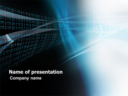 Digital Stream PowerPoint Template, 03656, Technology and Science — PoweredTemplate.com