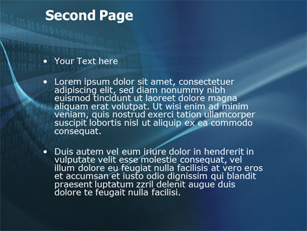 Digital Stream PowerPoint Template Slide 2