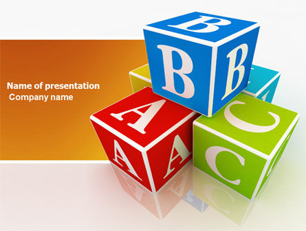 ABC Bricks PowerPoint Template, 03660, Education & Training — PoweredTemplate.com