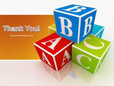 ABC Bricks PowerPoint Template Slide 20