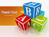 ABC Bricks PowerPoint Template#20