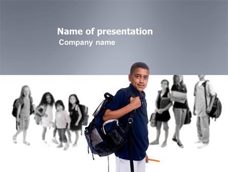 People: Secundaire Schooljongen PowerPoint Template #03662