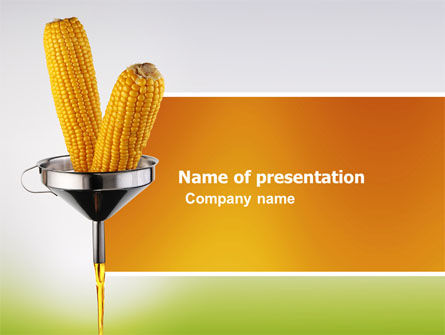 Corn Oil PowerPoint Template, 03664, Careers/Industry — PoweredTemplate.com