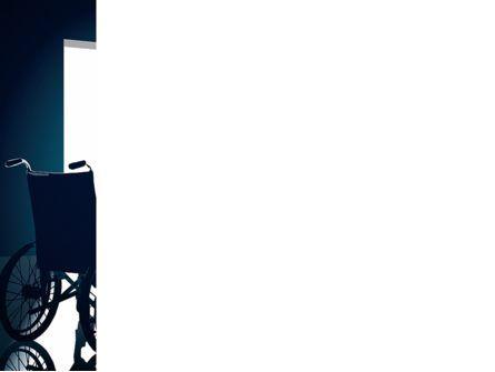 Wheelchair PowerPoint Template, Slide 3, 03665, Medical — PoweredTemplate.com