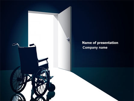 Wheelchair PowerPoint Template, 03665, Medical — PoweredTemplate.com