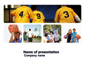 Sports: School Basketball Team PowerPoint Template #03666