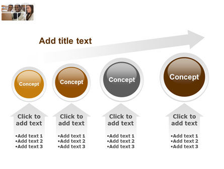 Students At The Computer PowerPoint Template Slide 13
