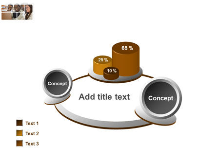 Students At The Computer PowerPoint Template Slide 16