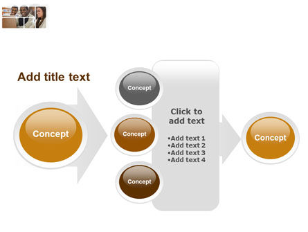 Students At The Computer PowerPoint Template Slide 17