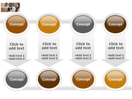 Students At The Computer PowerPoint Template Slide 18