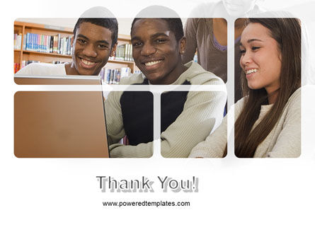 Students At The Computer PowerPoint Template Slide 20