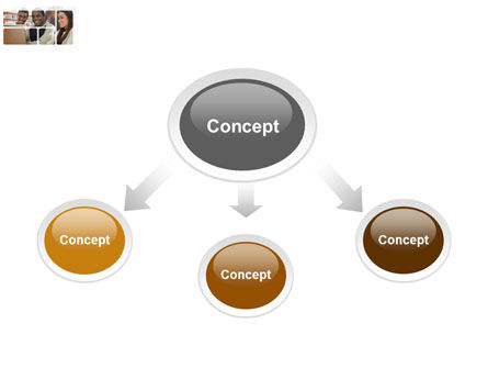 Students At The Computer PowerPoint Template Slide 4