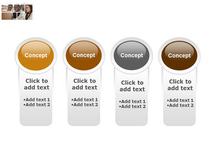 Students At The Computer PowerPoint Template Slide 5