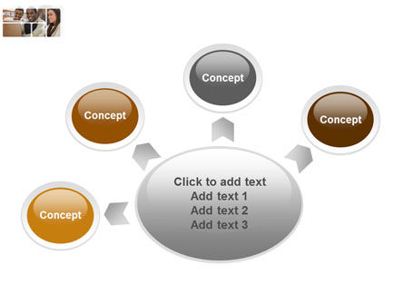 Students At The Computer PowerPoint Template Slide 7