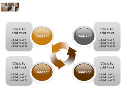 Students At The Computer PowerPoint Template Slide 9