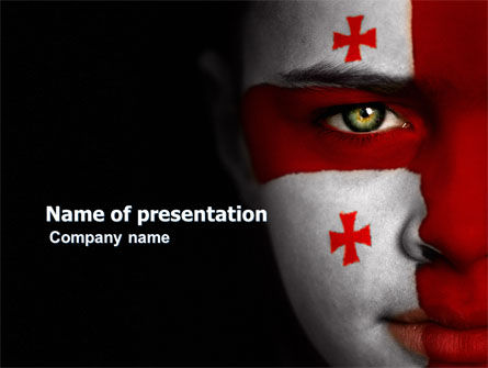 Georgia PowerPoint Template, 03669, Flags/International — PoweredTemplate.com