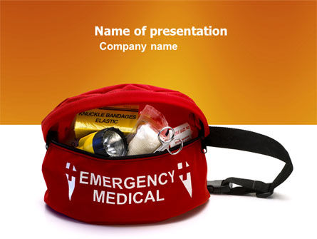 Medical: Medical Kit PowerPoint Template #03674