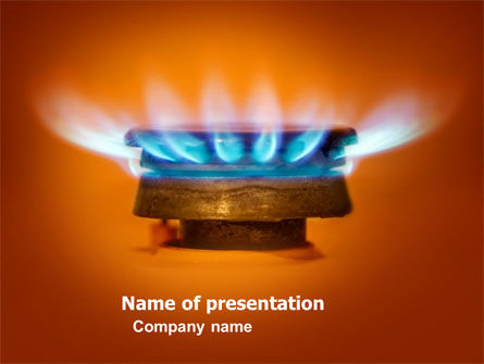 gas stove powerpoint template, backgrounds | 03675, Presentation templates