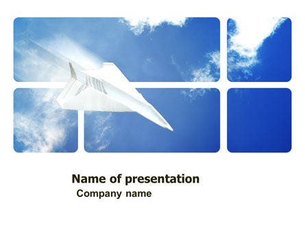 Business Concepts: Paper Plane PowerPoint Template #03676