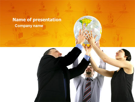 Global Partnership PowerPoint Template, 03682, Business Concepts — PoweredTemplate.com
