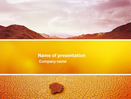 Nature & Environment: Deserted PowerPoint Template #03684