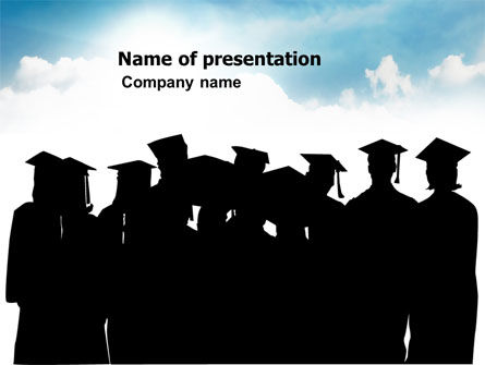 Graduates PowerPoint Template, 03685, Education & Training — PoweredTemplate.com