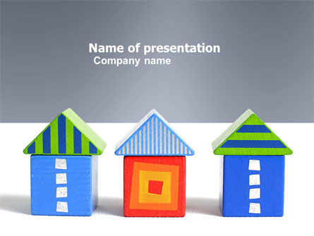 Houses PowerPoint Template, 03686, Construction — PoweredTemplate.com