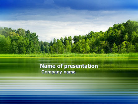 Landscape PowerPoint Template, Backgrounds | 03688 | PoweredTemplate.com