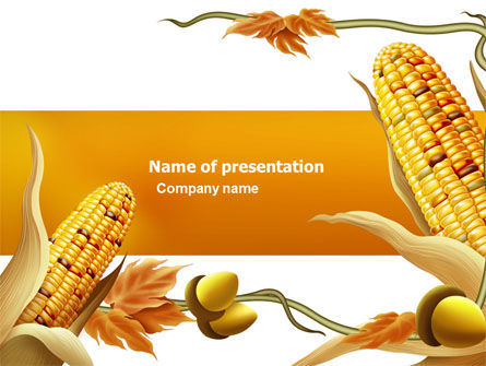Agriculture: Harvest of Autumn PowerPoint Template #03689