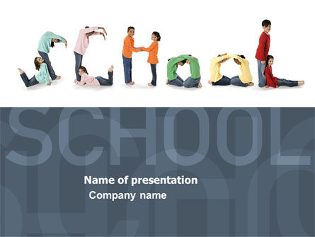 Education & Training: School Word PowerPoint Template #03693