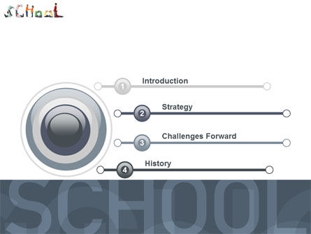 School Word PowerPoint Template, Slide 3, 03693, Education & Training — PoweredTemplate.com