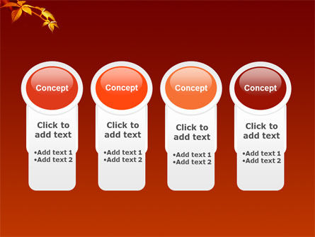 Yellow Leaves On A Yellow Stick PowerPoint Template Slide 5