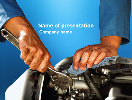Engine PowerPoint Template, 03698, Utilities/Industrial — PoweredTemplate.com