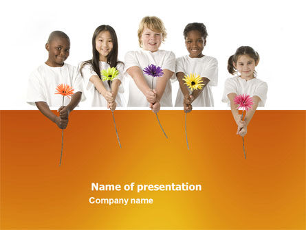 People: Flowers of Life PowerPoint Template #03699