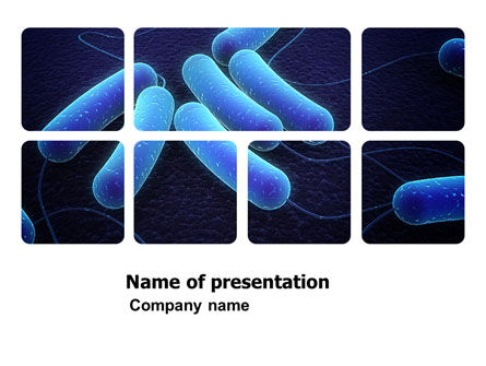 Bacteriology PowerPoint Template, 03702, Medical — PoweredTemplate.com