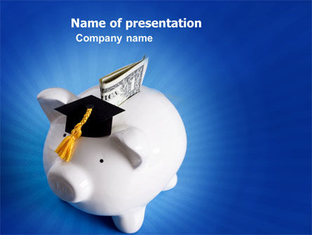 Education Costs PowerPoint Template, 03703, Financial/Accounting — PoweredTemplate.com