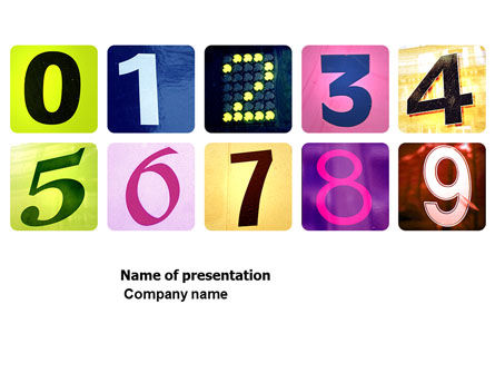 Colored Numbers PowerPoint Template