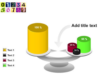 Colored Numbers PowerPoint Template Slide 10