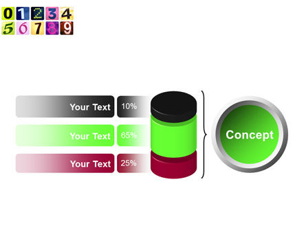 Colored Numbers PowerPoint Template Slide 11