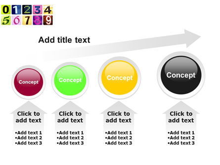 Colored Numbers PowerPoint Template Slide 13