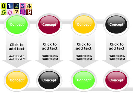 Colored Numbers PowerPoint Template Slide 18