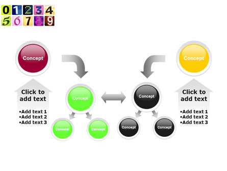 Colored Numbers PowerPoint Template Slide 19