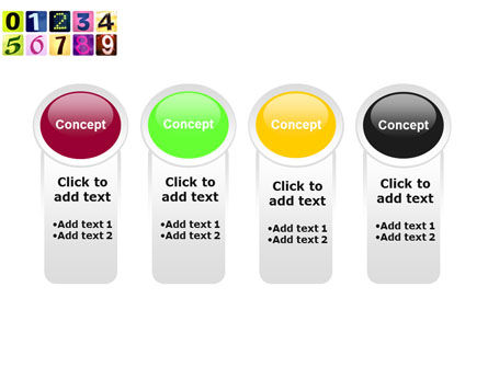 Colored Numbers PowerPoint Template Slide 5