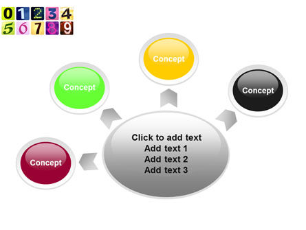 Colored Numbers PowerPoint Template Slide 7