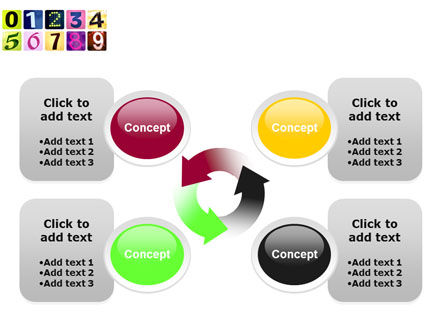 Colored Numbers PowerPoint Template Slide 9